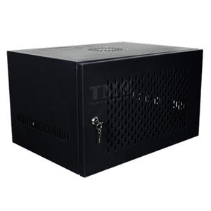Tủ Rack 6U D400 Giá Rẻ, Cửa Lưới, Màu Đen